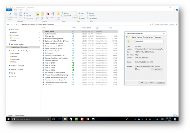 how to find onedrive folders pc