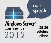 Nicola Ferrini speaker alla Windows Server Conference 2012